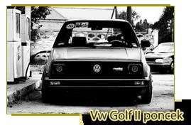 Vw Golf II poncek